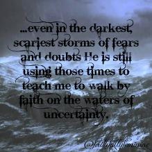 walking on water of uncertainty
